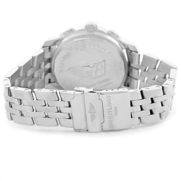 Breitling Bentley Mark VI Brown Dial Men's Steel Platinum Watch P26362 For Sale 4