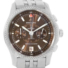 Breitling Bentley Mark VI Brown Dial Men's Steel Platinum Watch P26362