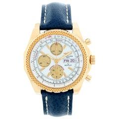 Breitling Bentley Men's 18 Karat Yellow Gold Chronograph Watch K1336212
