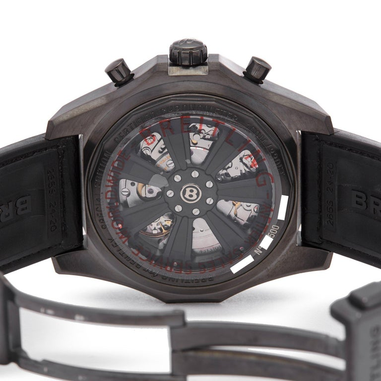 Breitling Bentley Midnight MB061113 Men's DLC Coated Stainless Steel Chronograph For Sale 2