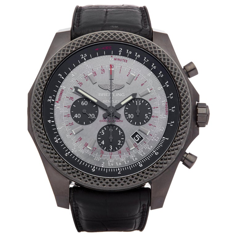 Breitling Bentley Midnight MB061113 Men's DLC Coated Stainless Steel Chronograph For Sale