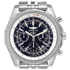 Breitling Bentley Motors Black Dial Chronograph Steel Men's Watch A25362