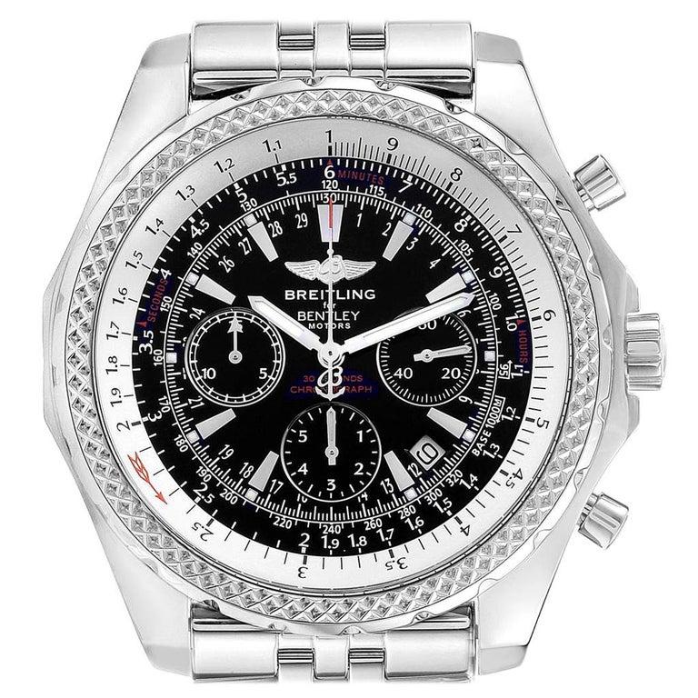 Breitling Bentley Watch >> Breitling Bentley Motors Black Dial Chronograph Steel Men S Watch