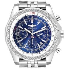 Breitling Bentley Motors Blue Dial Chronograph Watch A25362 Box