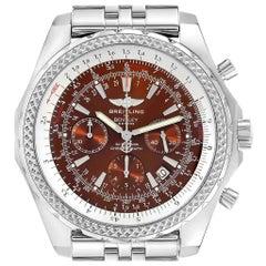 Breitling Bentley Motors Bronze Dial Chronograph Steel Men's Watch A25362