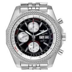 Breitling Bentley Motors GT Black Dial Steel Men's Watch A13362