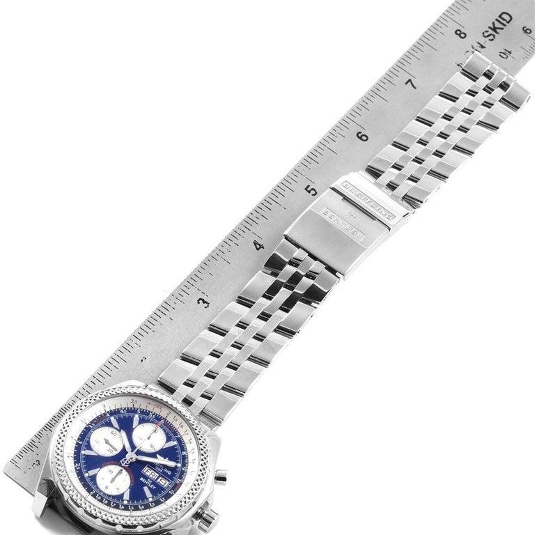 Breitling Bentley Motors GT Blue Dial Sreel Men's Watch A13362 For Sale 7