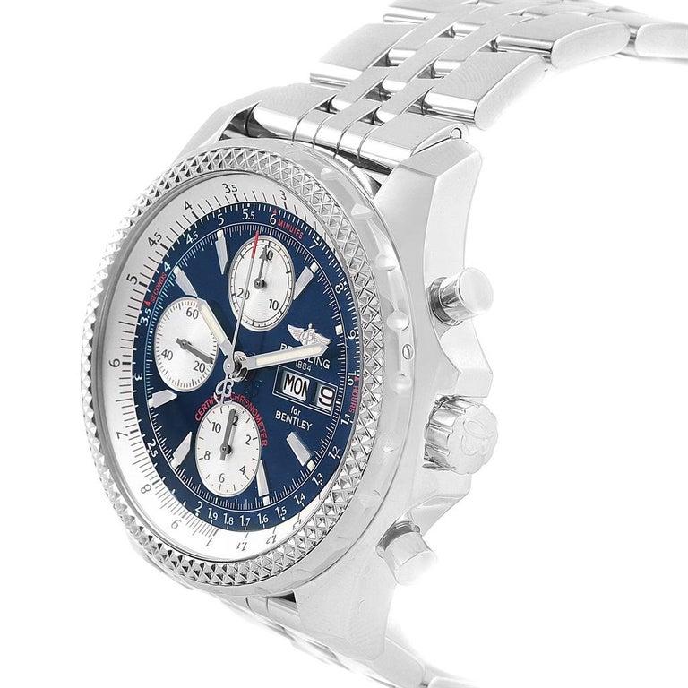 Breitling Bentley Motors GT Blue Dial Sreel Men's Watch A13362 For Sale 1