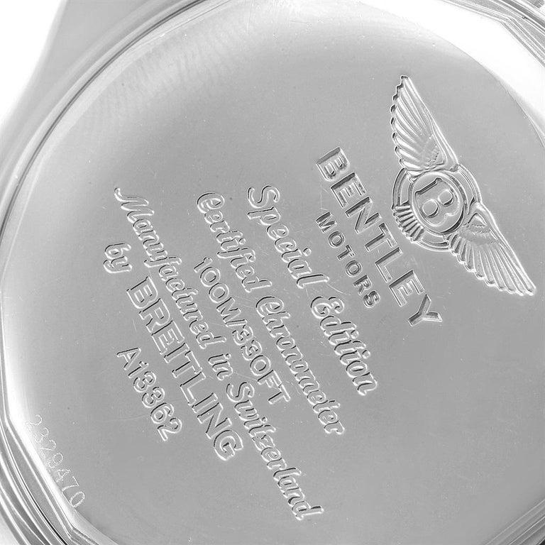 Breitling Bentley Motors GT Blue Dial Sreel Men's Watch A13362 For Sale 4