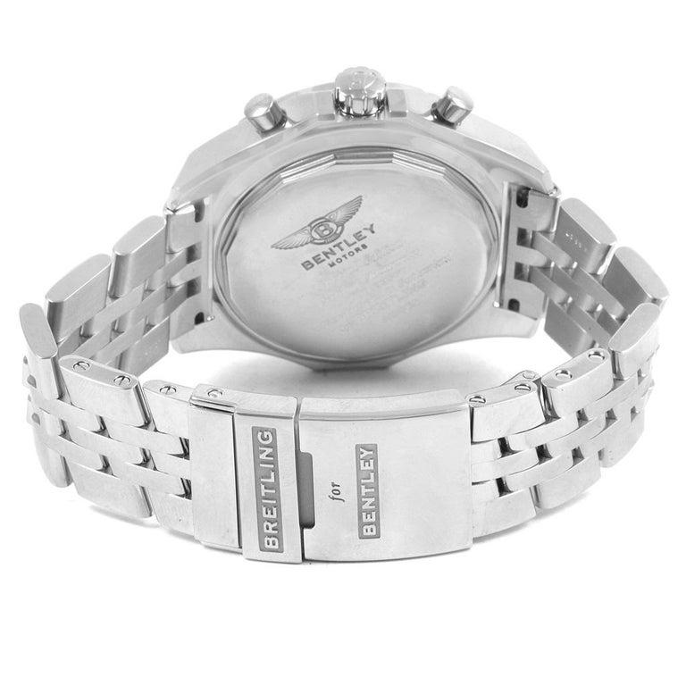 Breitling Bentley Motors GT Blue Dial Sreel Men's Watch A13362 For Sale 6