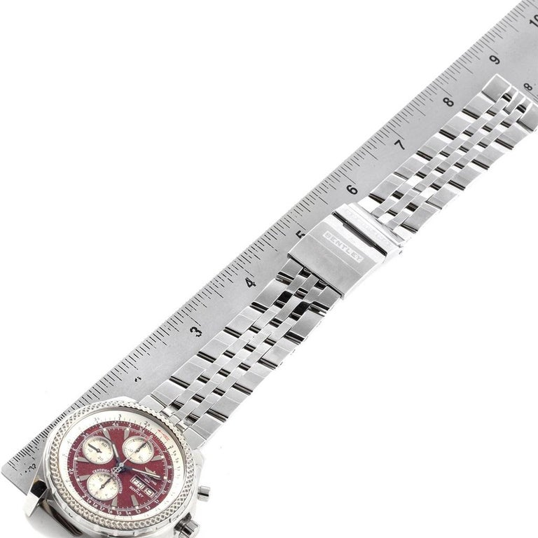 Breitling Bentley Motors GT Burgundy Dial Men's Watch A13362 Box Papers For Sale 8