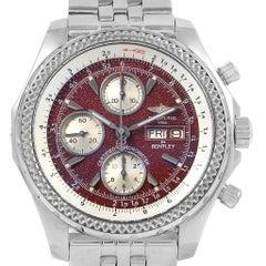 Breitling Bentley Motors GT Burgundy Dial Men's Watch A13362 Box Papers