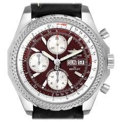 Breitling Bentley Motors GT Burgundy Dial Steel Men's Watch A13362