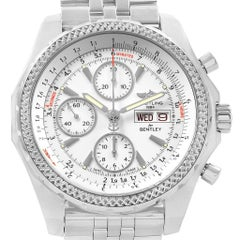 Breitling Bentley Motors GT White Dial Men's Watch A13362 Box Papers