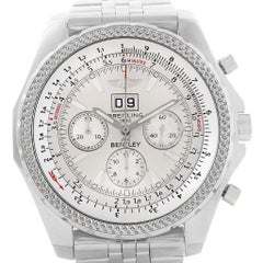 Breitling Bentley Motors Silver Dial Chronograph Men's Watch A44362