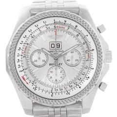 Breitling Bentley Motors Silver Dial Chronograph Men's Watch A44362