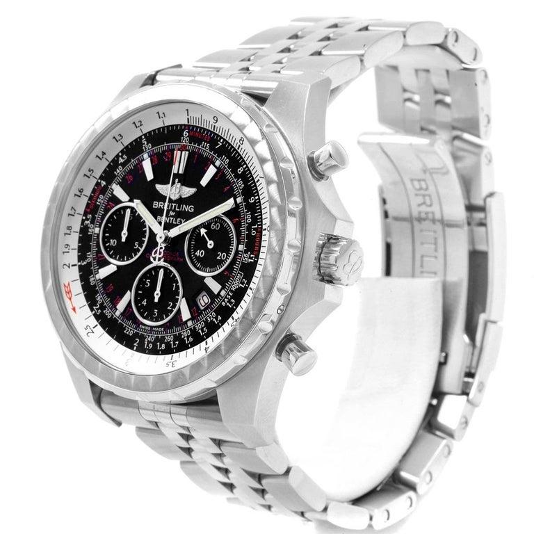Breitling Bentley Motors T Black Dial Chronograph Watch