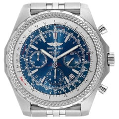 Breitling Bentley Motors T Blue Dial Chronograph Watch A25363 Box