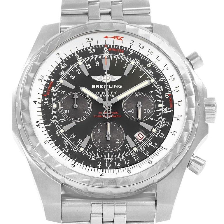 Breitling Bentley Gmt Wristwatches: Breitling Bentley Motors T Grey Dial Chronograph Watch