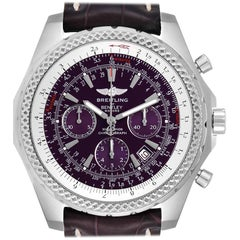Breitling Bentley Purple Dial Chronograph Steel Men's Watch A25362