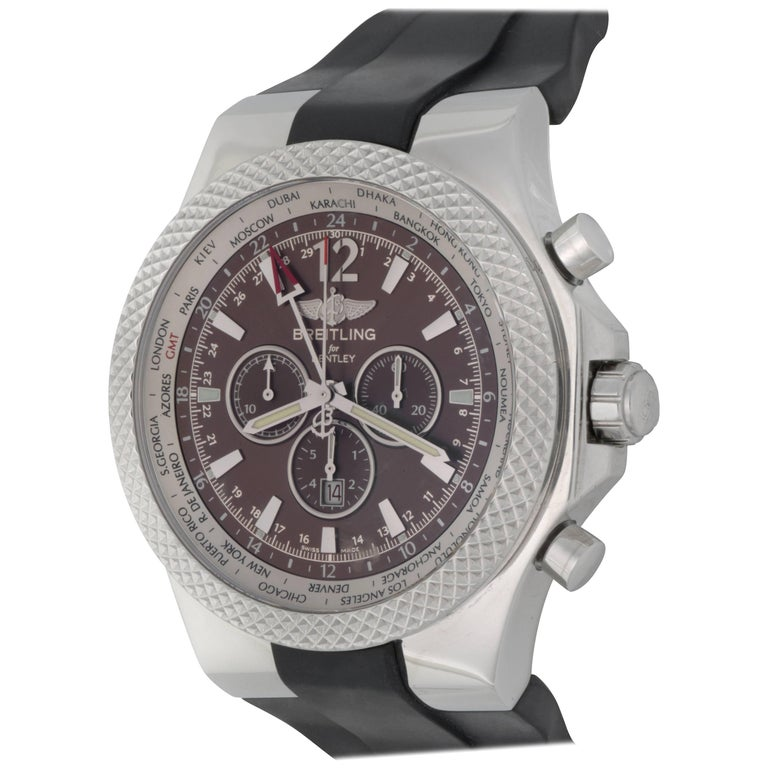 Breitling Bentley Gmt Wristwatches: Breitling Bentley Special Edition Motors Chronograph