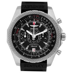 Breitling Bentley Super Sports Rubber Strap Men's Watch E27365 Box