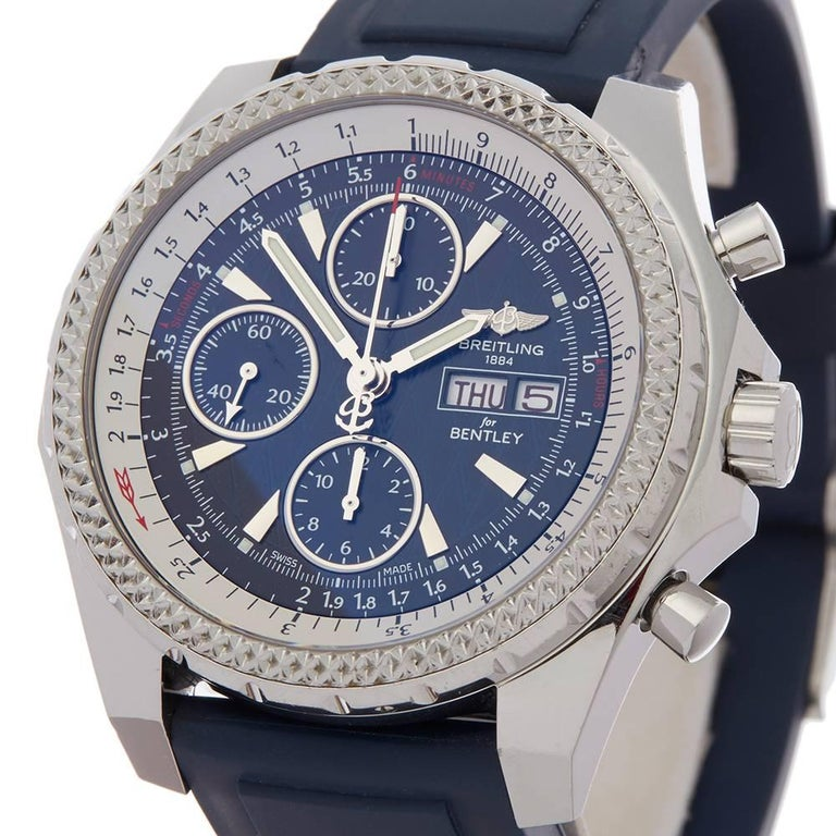 Breitling Bentley Gt Wristwatches: Breitling Bently Special Edition GT Stainless Steel Men's