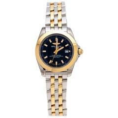 Breitling Black Gold Plated Galactic 32 Sleek Edition Women's Wristwatch 32mm