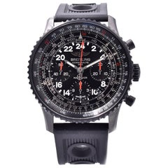 Breitling Black Stainless Steel Navitimer Cosmonaute
