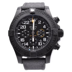 Breitling Black Titanium Avenger Hurricane Rare Military 24 Hour Watch
