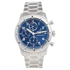 Breitling Blue Stainless Steel Aviator 8 A13316101C1A1 Men's Wristwatch 43 mm