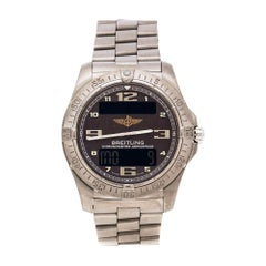 Breitling Brown Titanium Aerospace E79362 Men's Wristwatch 41 mm