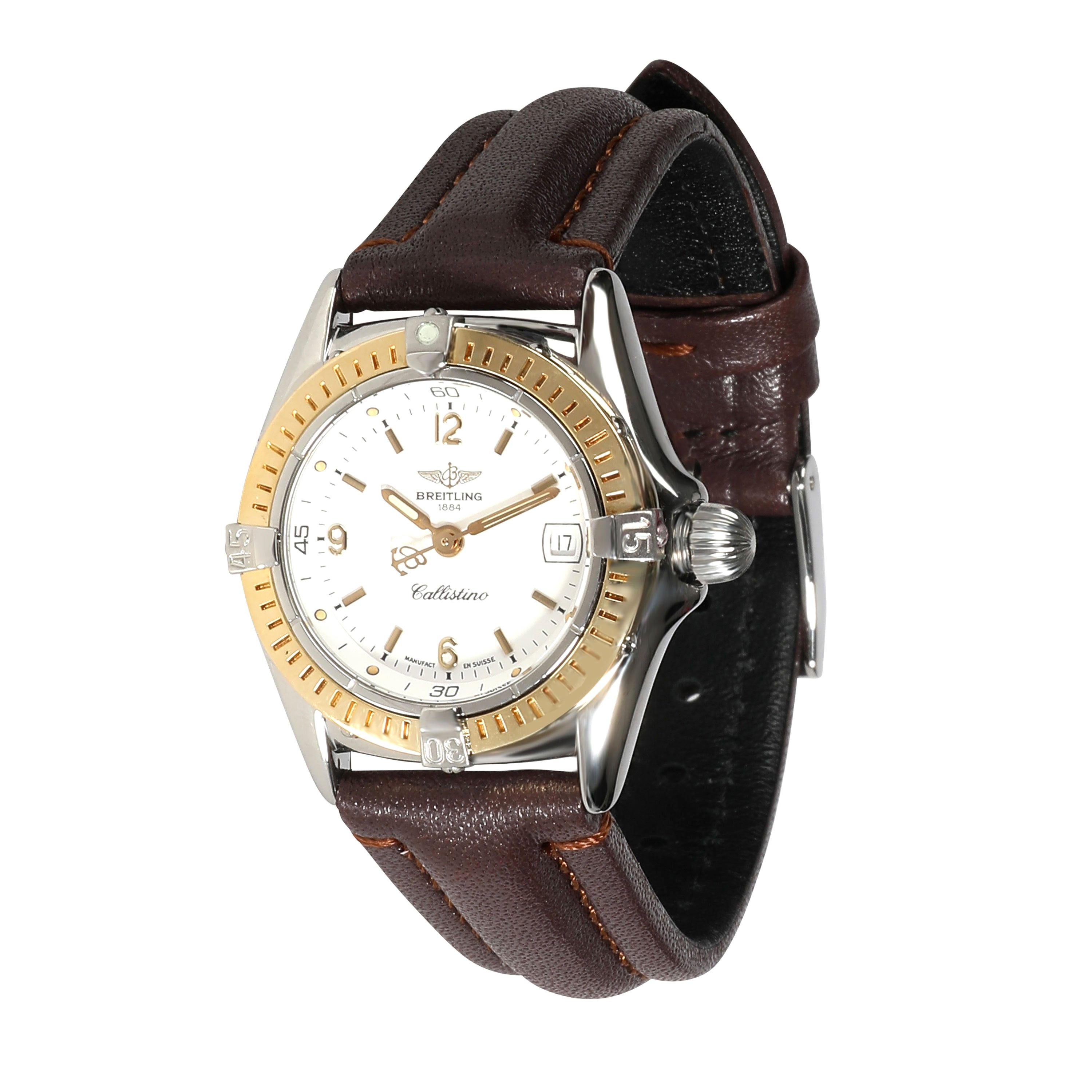 Breitling Callistino D52045 Women's Watch in 18kt Stainless Steel/Yellow Gold