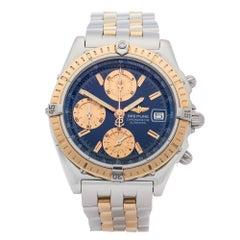 Breitling Chronomat 0 D13352 Men Yellow Gold & Stainless Steel 0 Watch