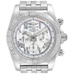 Breitling Chronomat 01 Mother of Pearl Dial Steel Men's Watch AB0110 Box