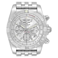 Breitling Chronomat 01 Mother of Pearl Dial Steel Men's Watch AB0110 Box Papers