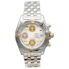 Breitling Chronomat 18k/SS Chronograph Wrist Watch with Mother of Pearl Dial