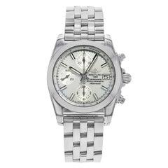 Breitling Chronomat 38 MOP Zifferblatt Stahl automatische Damen Uhr W1331012/A774-385A