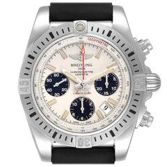 Breitling Chronomat 41 Airborne Silver Dial Steel Men's Watch AB0144