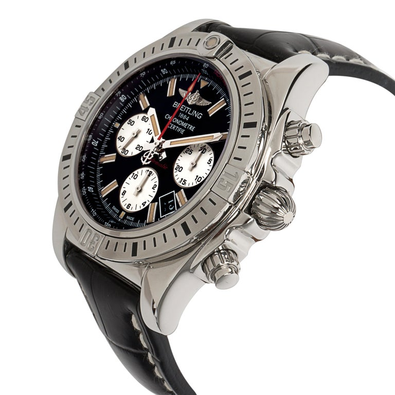 Breitling Chronomat 44 Airbourne AB0115 Men's Watch in Stainless Steel In Excellent Condition For Sale In New York, NY
