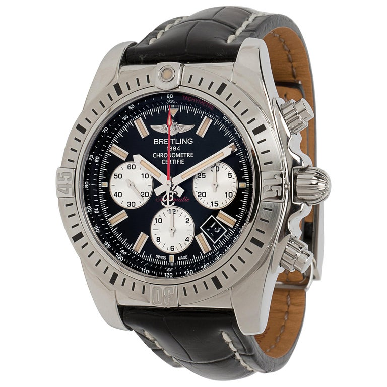 Breitling Chronomat 44 Airbourne AB0115 Men's Watch in Stainless Steel For Sale