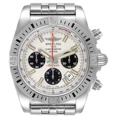 Breitling Chronomat 44 Airbourne Silver Dial Steel Men's Watch AB0115 Box