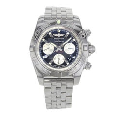 Breitling Chronomat 44 Black Dial Steel Automatic Men's Watch AB011012/B967-375A