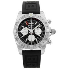 Breitling Chronomat 44 Steel Black Dial Automatic Men's Watch AB042011/BB56-153S