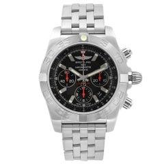 Breitling Chronomat Steel Black Dial Automatic Mens Watch AB011110/BA50SS