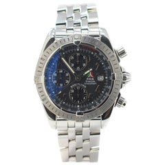Breitling Chronomat A13356 with Stainless-Steel Bezel and Black Dial