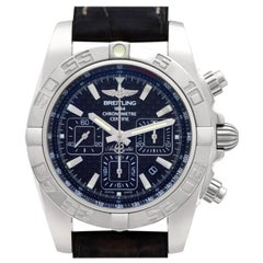 Breitling Chronomat AB0110, Black Dial, Certified and Warranty