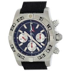 Breitling Chronomat AB0110 mit Armband, Edelstahl-Lünette und Schwarzes Zifferblatt