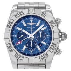 Breitling Chronomat AB0410, Blue Dial, Certified and Warranty