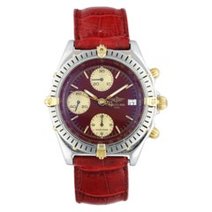 Breitling Chronomat B13048 Bordeaux Dial Men's Watch